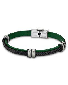 Leder Armband LS1829-2/2 Lotus Style grün 21 cm