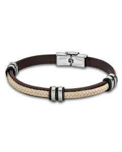 Leder Armband LS1829-2/6 Lotus Style braun 21 cm