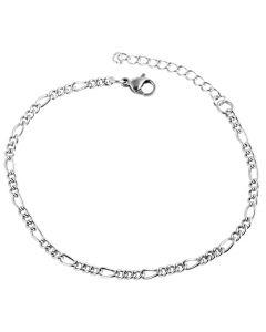 Edelstahl Armband silber glänzend 18 cm Armkettchen 1