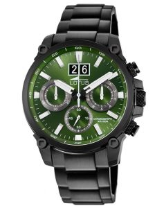 Lotus Herrenuhr Armbanduhr Edelstahl schwarz 10141/1