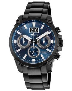 Lotus Herrenuhr Armbanduhr Edelstahlband schwarz 10141/2