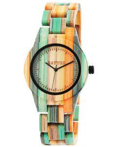 Raptor Damen Uhr Bambus Armbanduhr RA10188-002