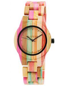 Raptor Damen Uhr Bambus Armbanduhr RA10188-003