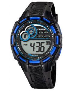 Calypso by Festina Herren Digital Uhr K5625/2 schwarz blau 10 ATM
