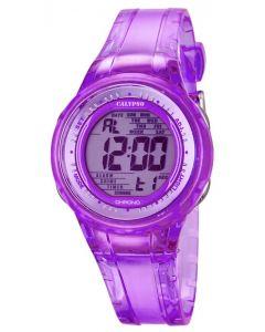 Calypso Jugenduhr Armbanduhr Digitaluhr K5688/3 lila transparent