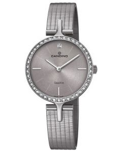 Candino Damenuhr C4647/1 Armbanduhr Edelstahl grau