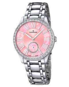 Candino Damen Armbanduhr C4595/2 Saphirglas pink silber
