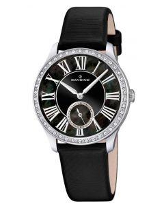 Candino Damen Armbanduhr C4596/3 Saphirglas Lederband schwarz