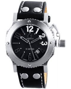 Automatikuhr Carucci Unisex CA2210BK Uhr Kautschuk-Armband Black