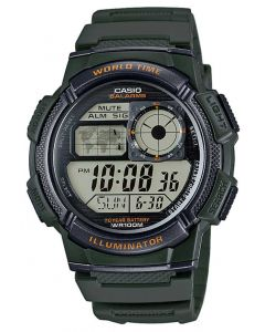 Casio Digitaluhr AE-1000W-3AVEF Digital Armbanduhr grün