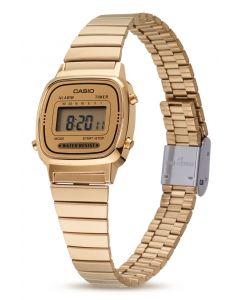 Casio Retro Uhr Damenuhr LA670WEGA-9EF Gold vorne