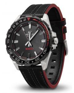 Casio Edifice Herren Armbanduhr EFV-120BL-1AVUEF Lederarmband vorne
