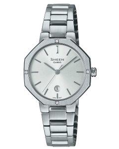 Casio Damenuhr Armbanduhr Sheen SHE-4533D-7AUER Edelstahlband