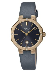 Casio Damenuhr Armbanduhr Sheen SHE-4543GL-8AUER Echtler-Armband grau