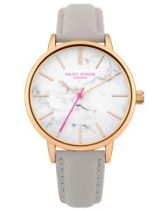 DAISY DIXON Damenuhr Armbanduhr Lederband grau DD095ERG