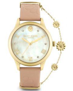 DAISY DIXON Modische Damenuhr Armbanduhr Lederband DD104PG
