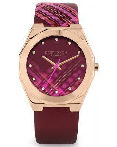 Modische DAISY DIXON Damenuhr Armbanduhr rot rose DD118PRG