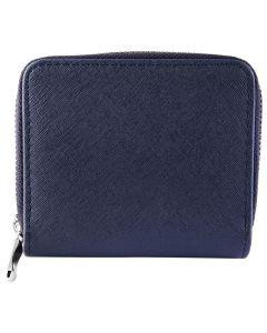 Damen Geldbörse blau Querformat Börse 12 x 10 cm