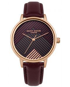 DAISY DIXON Damenuhr Armbanduhr Lederband braun DD056VRG