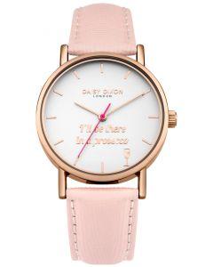 DAISY DIXON Damenuhr Armbanduhr BLAIRE Lederband rosa DD079PRG