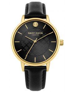 DAISY DIXON Damenuhr Armbanduhr Lederband schwarz DD085BG