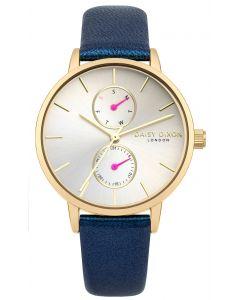 DAISY DIXON Damenuhr Armbanduhr Lederband blau DD086UG