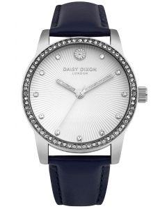 DAISY DIXON Damenuhr Armbanduhr Lederband schwarz DD089US