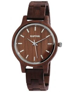 Raptor Damen Uhr Holz Armbanduhr braun Holzuhr RA10187-005
