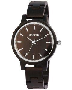 Raptor Damen Uhr Holz Armbanduhr dunkelbraun Holzuhr RA10187-006