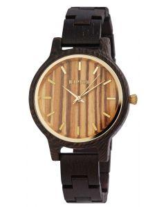 Raptor Damen Uhr Holz Armbanduhr dunkelbraun golden RA10187-008