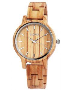 Raptor Uhr Holz Armbanduhr hellbraun gemasert Holzuhr RA10187-009