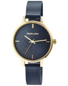 Damenuhr Excellanc Armbanduhr Meshband blau 1300013-008