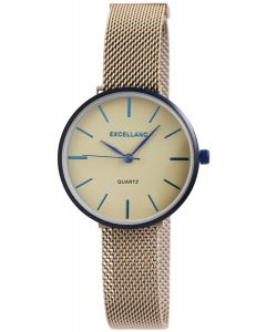 Damenuhr Excellanc Armbanduhr Meshband beige 1300033-002