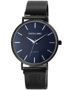Herrenuhr Excellanc Armbanduhr Meshband schwarz