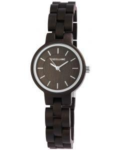 Damen Armbanduhr Holz 1800194-002 Excellanc Uhr dunkelbraun Holzuhr