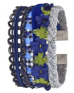 Edelzeit Armband Enzian Trachtenarmband Stoff-Armband EZB05