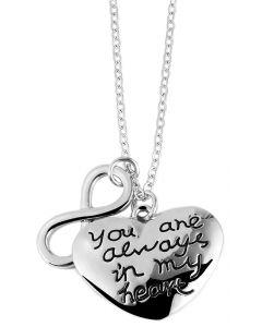 "Halskette ""You ane always in my heart"" Ankerkette 45 cm"