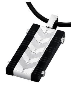 Herren Leder Halskette mit Anhänger Lotus Style LS1729-1/2