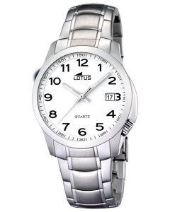 Lotus Armbanduhr Unisex Uhr 15760/1 Edelstahlarmbanduhr silber Datum