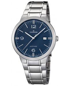 Candino Herrenuhr C4510/2 Armbanduhr Edelstahlarmband silber blau Saphirglas