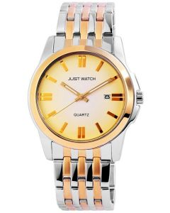 Just Watch Herren Uhr JW20065-003 bicolor gold silber Edelstahl Datum