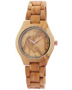 Excellanc Damen Uhr Holz Gliederarmband 1800157-001 Holzuhr hellbraun