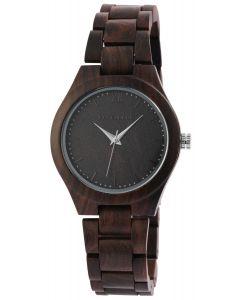 Excellanc Damen Uhr Holz Gliederarmband 1800157-002 Holzuhr dunkelbraun