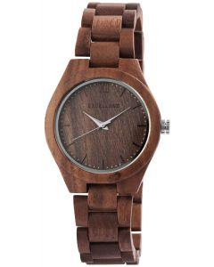 Excellanc Damen Holz Uhr Gliederarmband 1800157-003 Holzuhr braun