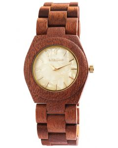 Excellanc Damen Uhr Holz Gliederarmband 1800192-004 Holzuhr braun