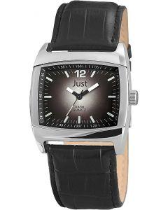 Just Herrenuhr schwarz Leder JU20057-001 Armbanduhr