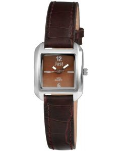 Just Damenuhr Uhr braun JU10056-001 Armbanduhr Lederarmband