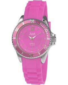 Just Uhr 48-S3857-PI Damenuhr pink Edelstahl Uhr Kautschuk-Armband