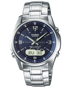 Casio Funkuhr LCW-M100DSE-2AER Funk-Solar Uhr blau
