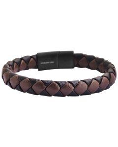 Herren Armband 22 cm braun Magentschließe